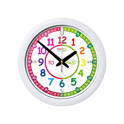 EasyRead Time Teacher Children's Wall Clock with simple 3 Step Teaching System. 12