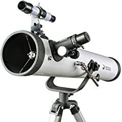 Telescope 76AZ Scope for Beginners-Refractor Travel Scope 76mm Aperture and 700mm Focal Length-With Tripod and 1.25 inch 10mm Eyepieces Smartphone AdapterA quality and reliable telescope for beginners.Specification:Optical Design: reflectorAp...