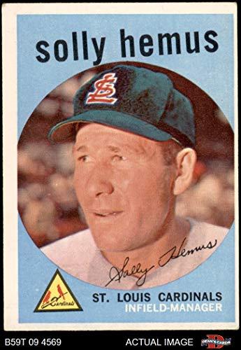 1959 Topps # 527 Solly Hemus St. Louis Cardinals (Baseball Card) Dean's Cards 4 - VG/EX Cardinals