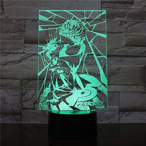 LLWWRR1 Figure USB 3D Led Night Light Decoration Boys Child Kids Baby Gifts Japanese Persona 5 Table Lamp Bedside