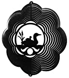 LOON CLOUD BIRD Swirly Metal Wind Spinner
