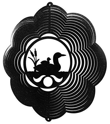 LOON CLOUD BIRD Swirly Metal Wind Spinner by SWEN Products
