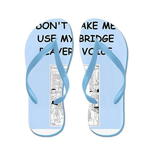 CafePress BRIDGE2 - Flip Flops, Funny Thong Sandals, Beach Sandals Caribbean Blue