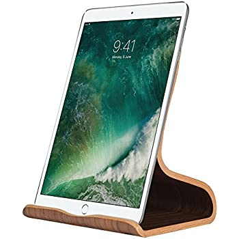 Samdi Wood Tablets Stand for Ipad Google Nexus Samsung Galaxy Tab HTC LG Nokia Huawei Xiaomi other Meanwhile Compatible with Any Cell Phones(White Birch) (Black Walunt)