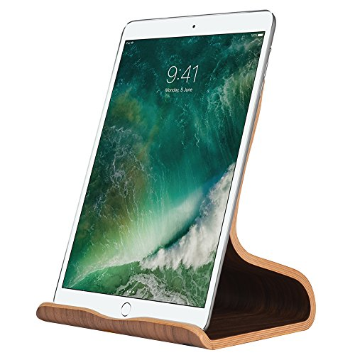 SAMDI Wood Tablet Stand, Wooden iPad Holder: Desktop Stand Holder Dock for new iPad 2017 Pro 9.7, 10.5, Air mini 2 3 4, Kindle, Nexus, Accessories, Tab, E-reader, other Tablets(4-13 ()