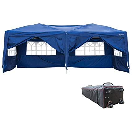 197d5a0db7 Amazon.com : VINGLI 10'x20' EZ Pop Up Canopy Tent w/ 6 Removable ...