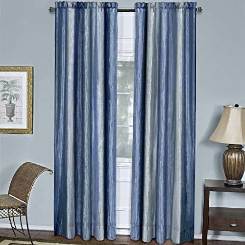 Achim Home Furnishings Ombre Window Curtain Panel, 50 by 84″, Blue