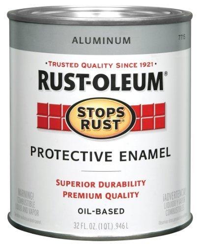 Rust-Oleum 7715502 Protective Enamel Paint Stops Rust, 32-Ounce, Metallic Aluminum by Rust-Oleum