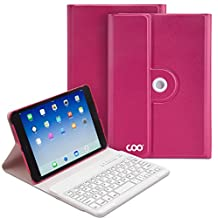 COO iPad Mini Case With Wireless Bluetooth Keyboard for Apple iPad Mini 1/2/3 Mini4, PU Leather, 360 Degrees Rotating