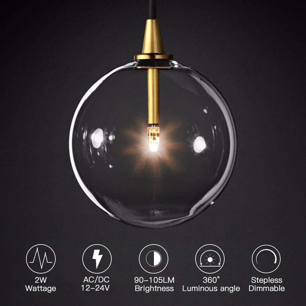 6 Pack LED G4 3000K Warm White LED Corn Bulb Lamp Light AC//DC12V G4-PC02-12