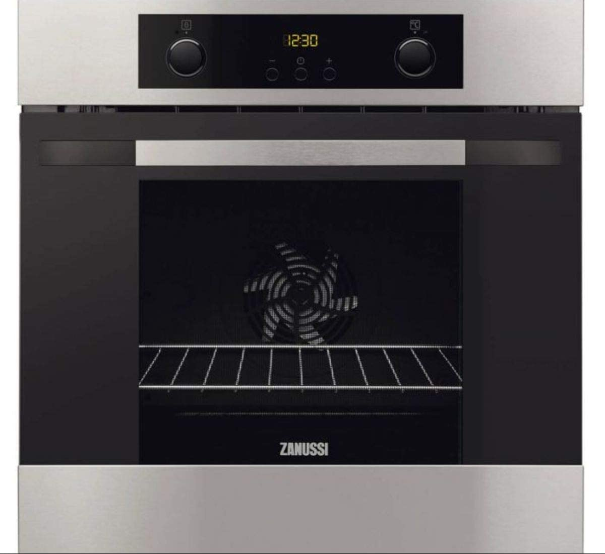 Zanussi Electric Built-in Single Oven Stainless Steel, Multi-Functional Steam Oven With Anti-fingerprint Coating, ZOA35502XD - 1 Year Warranty