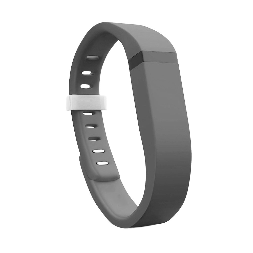 CE B076HN1CMX PU Health Fitbit Flex Silicone Replacement Bands with Adjustable Clasp Grey 5 Count Pure Acoustics