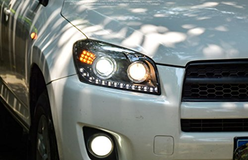 GOWE Car Styling Car Styling For toyota RAV4 headlights 2009-13 For RAV4 LED head lamp Angel eye led DRL front light Bi-Xenon Color Temperature:6000K Wattage:35W 0