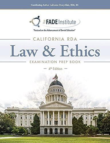the california rda law and ethics examination prep book 4th rh amazon com