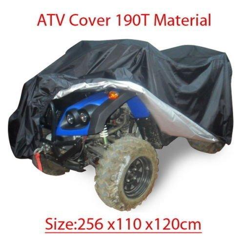 GenialES Abdeckplane ATV Schutzhülle Universal für Motorrad Quad Bike ATV ATC 190T Material Wasserdicht Sunproof Waterproof Heatproof Cover UV Protector Schwarz XXXL:256*110*120cm PGQoIhzBUf