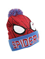 Spiderman Childrens/Youths Official Bobble Cuff Knitted Hat