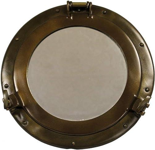 RedSkyTrader 11 Antique Finish Porthole Mirror Maritime Nautical Ship Decor