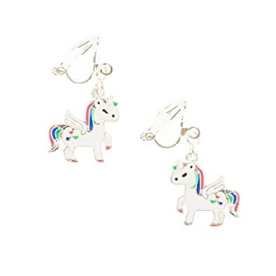 cf81a4b42 4184 Claire's Girl's Magical Unicorn Clip On Earrings: Claire's:  Amazon.co.uk: Jewellery