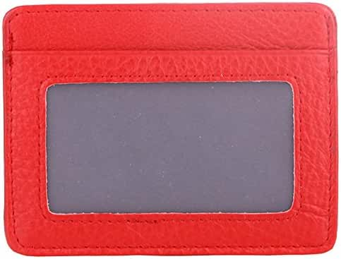 Kinzd® Super Slim Leather Front Pocket Wallet with ID Window Thin Credit Card Holder