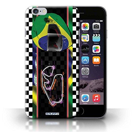 iCHOOSE Print Motif Coque de protection Case / Plastique manchon de telephone Coque pour iPhone 6+/Plus 5.5 / Collection F1 Piste Drapeau / Brésil/SãoPaulo
