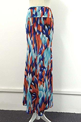 Femme Longue Imprim De Floral Jupe Maxi Haute Jupe 94009 Comme Casual Taille Plage Image rqpaAwrx65