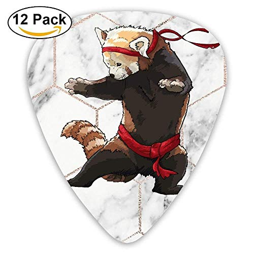 12-Pack Custom Guitar Picks Red Panda Fight Assorted Various Thickness Plectrum for ()