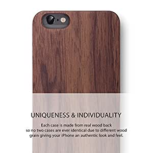 iPhone 6S PLUS / iPhone 6 PLUS Case. REAL WOODEN Premium Protective Cover. Unique, Classy, Sophisticated & Stylish WALNUT WOOD Bumper Accessory for Apple iPhone 6S PLUS / 6 PLUS