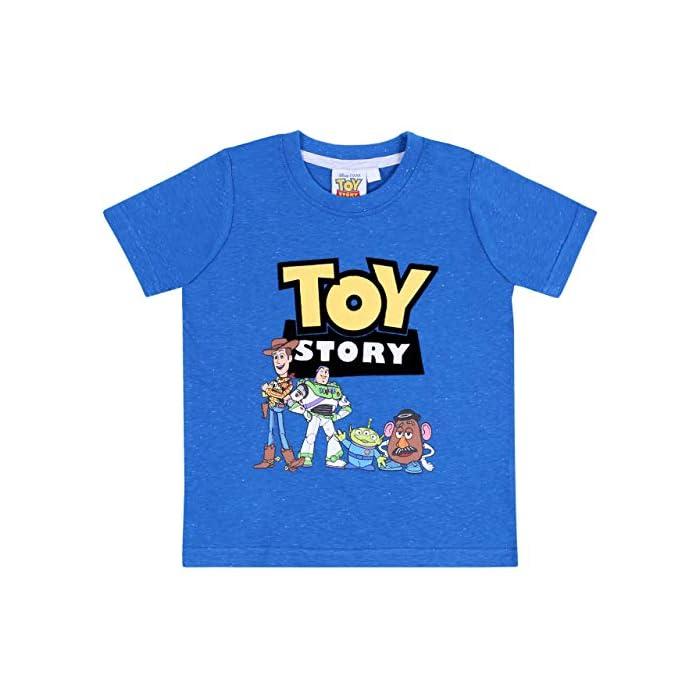 51FVZYw 8rL Pijama de color gris y azul formado por una camiseta de manga corta y pantalones cortos. Pijama con estampado de los personajes de 99% Algodón, 1% Poliéster