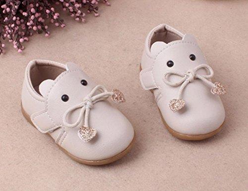 Hunpta Neugeborene Säuglingsbaby Mädchen Karikatur Leder einzelne Schuhe beiläufige flache Schuhe Beige
