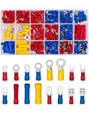 300PCS Insulated Wire Connectors Kit, Electrical Connectors Wires Terminals Kit, Ring Fork Hook Spade Butt Splices