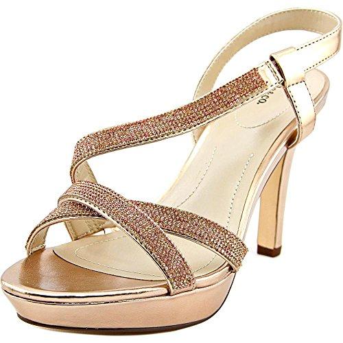 Style & Co Sandrah Damen Kunstleder Plateausandale Rose Gold