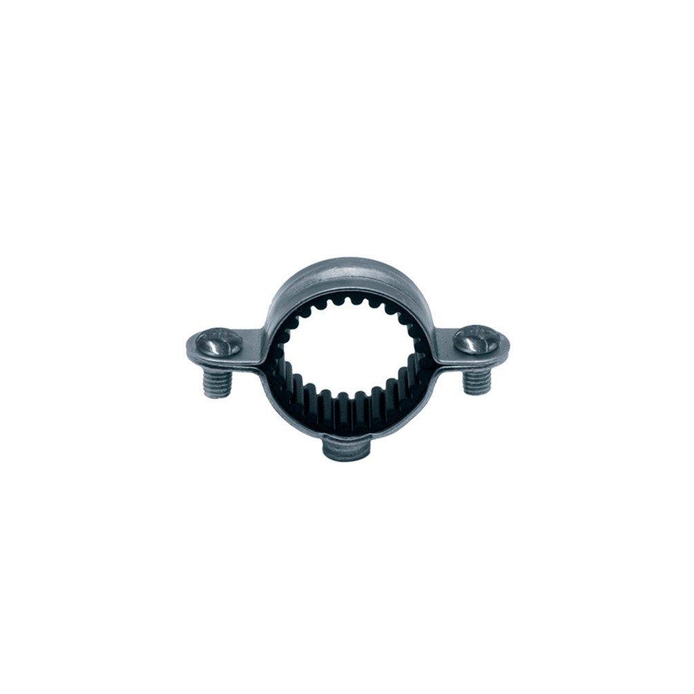 Collier isophonique zingué blanc simple - Tube Ø 20 mm - Vendu par 100 - Atlas - Plombelec 5148