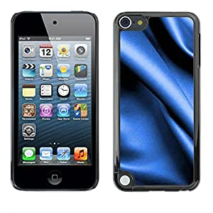 PC/Aluminum Funda Carcasa protectora para Apple iPod Touch 5 Blue fabric texture / JUSTGO PHONE PROTECTOR