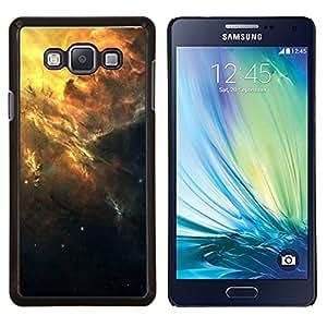 KLONGSHOP // Cubierta de piel con cierre a presión Shell trasero duro de goma Protección Caso - Hermoso racimo de la galaxia - Samsung Galaxy A7 A7000 //
