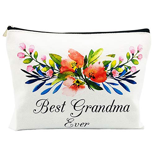 New Grandma Gifts Mother's Day Gifts for Mom from Daughter Nana Gifts Best Grandma Ever Pouch Cosmetic Bag for Christmas Birthday
