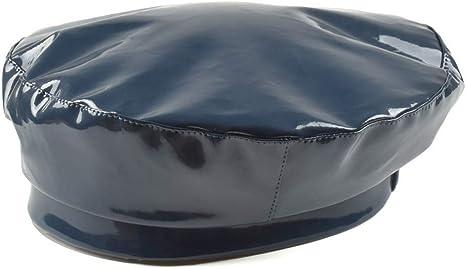 FDBQC Boina De Charol De Moda Sombreros De Mujer Sombrero Plano De ...