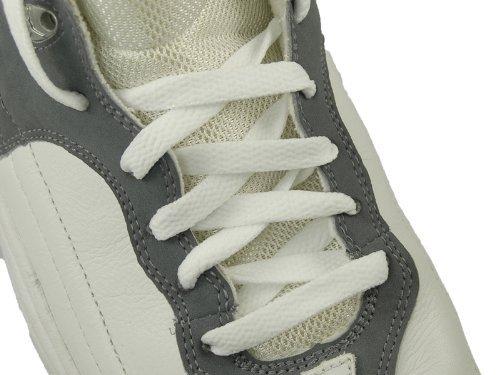 7 scarpe Larghezza Pr 45 bianchi Accmall Occhielli piatti Lacci Sneakers By delle Lacci 8mm qnUStx