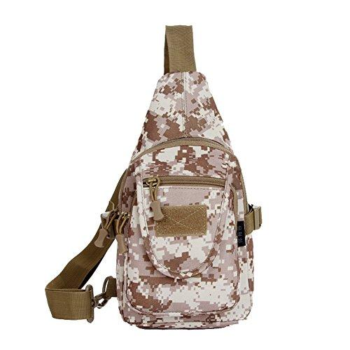 Ciclismo® dopobo senderismo de Montaña al aire libre Sprot bolsas táctica pecho bolsa Casual bolso de hombro - viajes 35 cm x 17 cm x 7 cm, color Digital Camouflage, tamaño 35CM x 17CM x 7CM (Height*W Desert Digital Camouflage