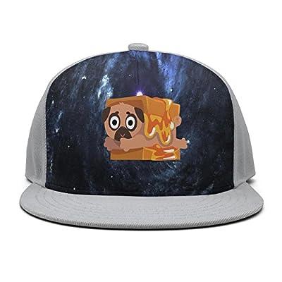 Trum Namii Unisex Fitted Baseball Cap Pug Puppy Bread Snapback Hats for Men