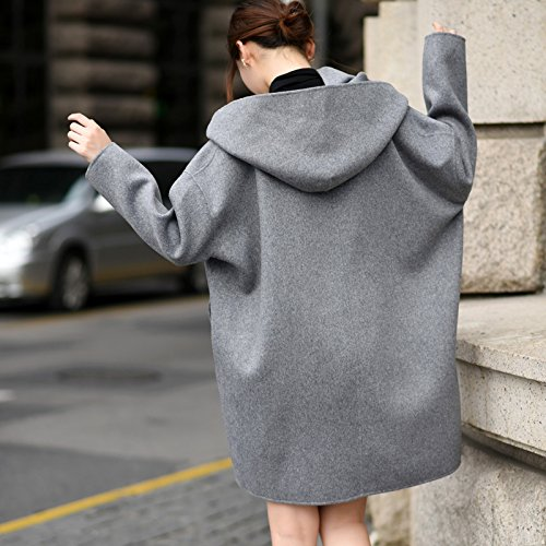 Hooded Profile Cloak Coat Woolen Xuanku A Double Wool Female Coat Long qE7UAwZ