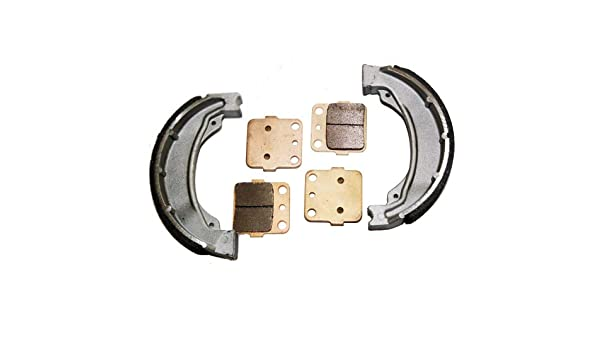 New For HONDA Sportrax 250 TRX250EX Front Pads and Rear Brake Shoes 2001-2008