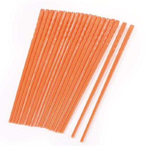 DealMux 10 Paare Start Geschirr orange rutschfestem Kunststoff Essstäbchen