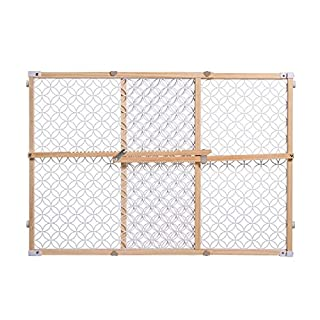 """Summer Secure Pressure Mount Wood & Plastic Baby Gate, Natural Hardwood Finish – 24"""" Tall, Fits Openings up to 27"""" to 42"""" Wide, Baby and Pet Gate for Doorways"""