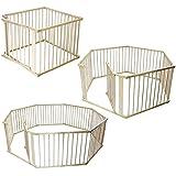 Monsieur Bébé ® Wood Safety barrier and playpen 4, 6 ou 8 sides - Standard EN 12227
