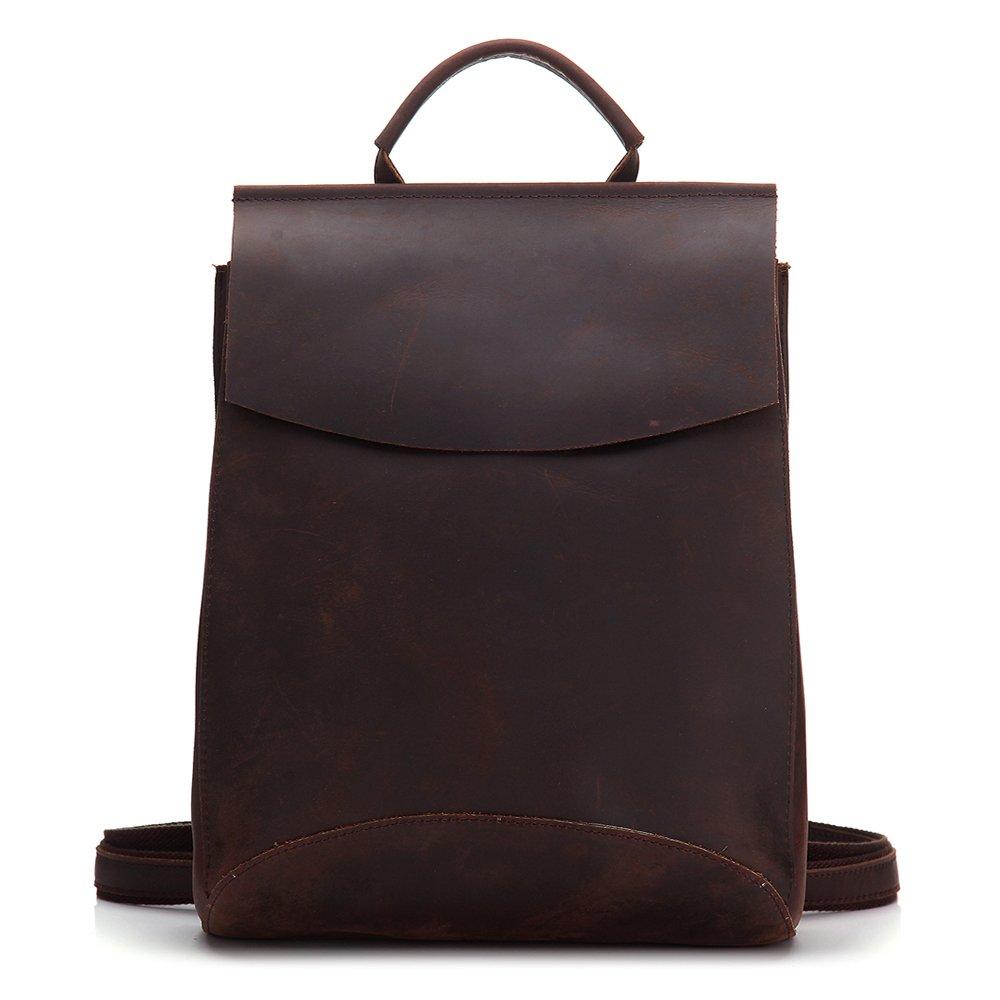 CHAO.P.J Women Girls Leather Work School Backpacks Simple Vintage Ipad Macbook Handbags