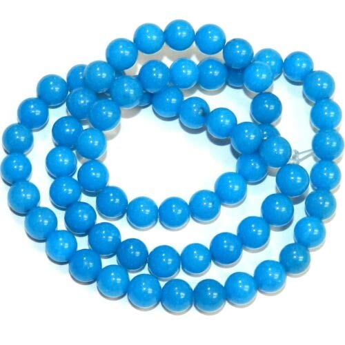 GR483 Turquoise Blue Mountain Jade 6mm Round Dolomite Gemstone Beads 16'' Crafting Key Chain Bracelet Necklace Jewelry Accessories Pendants