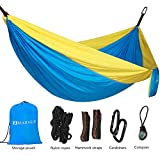 MARNUR Portable Camping Hammock make you have wonderful Trip Going camping is always exciting, but also exhausting, so sufficient and comfortable rest is necessary. With the MARNUR Camping Hammock, a great companion for camping being extremely portab...