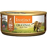 Instinct Original Grain Free Real Duck Recipe Natural Wet Canned Cat Food by Nature's Variety, 5.5 oz. Cans (Case of 12)