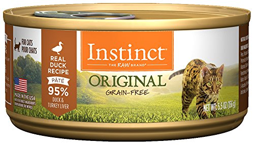 Natures Variety Instinct Duck (Instinct Original Grain Free Real Duck Recipe Natural Wet Canned Cat Food by Nature's Variety, 5.5 oz. Cans (Case of 12))