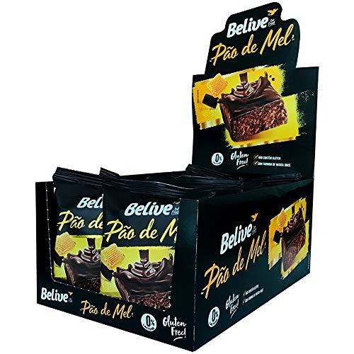 Pão de Mel 100% coberto de Chocolate Sem Glúten Sem Lactose Belive Display com 10 unidades de 45g